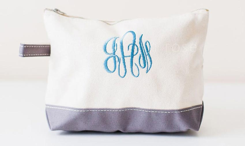 canvas monogrammed makeup bag
