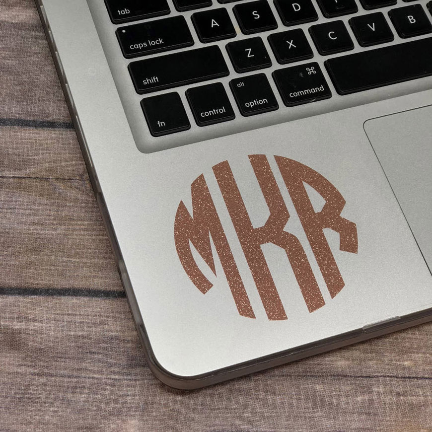 unique monogram decal gift